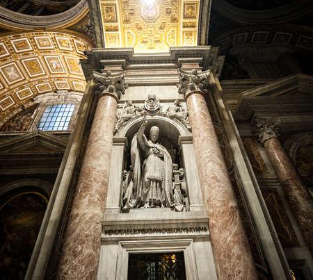 interior St. Peters Basilica in Vatican