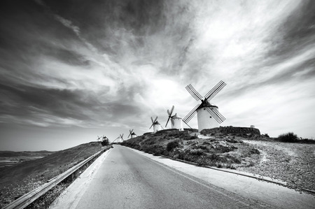 don: traditional windmills in Consuegra Spain