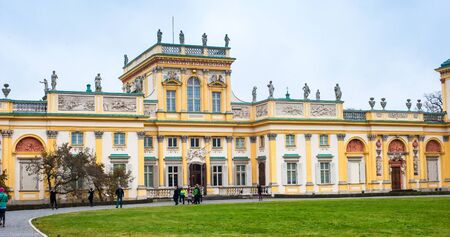 lazienki: Warsaw, Poland - november 09, 2014: The royal Wilanow Palace in Warsaw Editorial