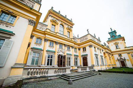 wilanow: Warsaw, Poland - november 09, 2014:   The royal Wilanow Palace in Warsaw