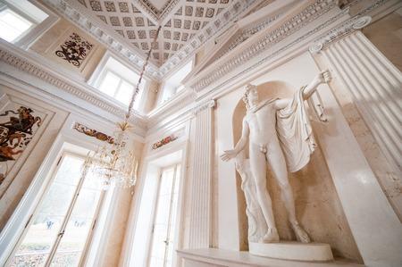 lazienki: Warsaw, Poland - november 09, 2014:  Palace Lazienki - public Museum in Warsaw. Seat of Polish king - Poniatowski.