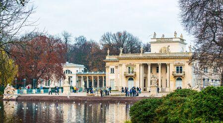 lazienki: Warsaw, Poland - november 09, 2014: The Lazienki palace in Lazienki Park, Warsaw. Lazienki Krolewskie. Editorial