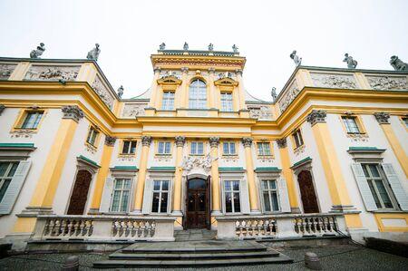 royal park: The royal Wilanow Palace in Warsaw, Poland.