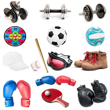 weightlifting gloves: sports equipment isolated against white background Stock Photo