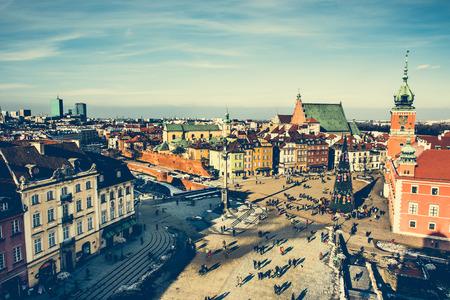warszawa: Castle Square with kings Sigismunds Column in Warsaw, Poland Stock Photo