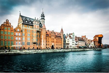gdansk: Cityscape on the Vistula River in historic city of Gdansk  in Poland