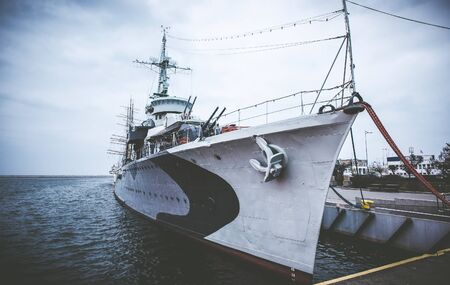 destroyer: Warship  destroyer serving in the Polish Navy during World War II,  preserved as a museum ship in Gdynia
