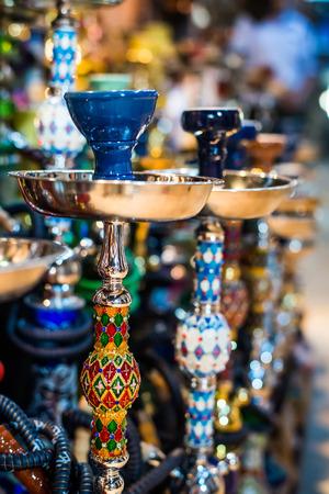 souk: traditional arabic shisha pipes hookah