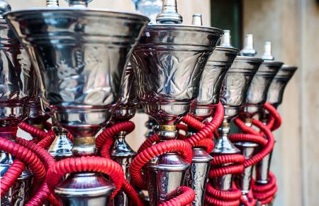 traditional arabic shisha pipes hookah
