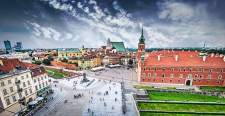 Plac Zamkowy in Warsaw old town, Poland photo
