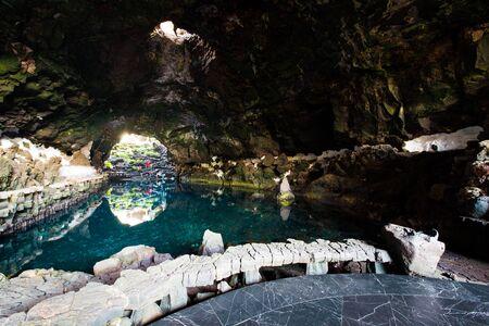 lanzarote: amazing Jameos del Agua inside, Lanzarote, Canary Islands, Spain Stock Photo