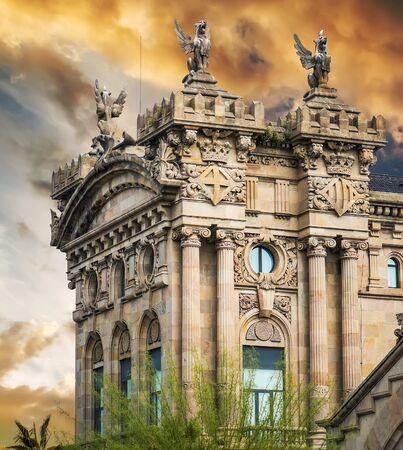 urbanistic: Maritime Station building in Barcelona Stock Photo