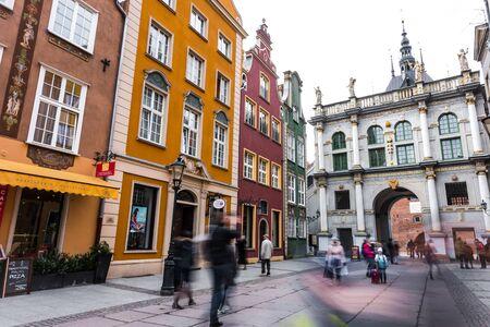 gdansk: Gdansk, Poland - March 14, 2014: Golden gate in old town of Gdansk, Poland