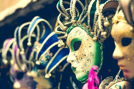 fest: amazing carnival masks for traditional Venetian carnival fest