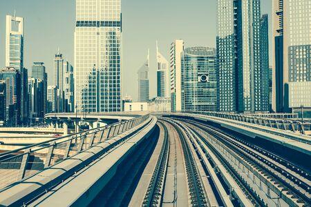 united arab emirate: Metro  in Dubai, United Arab Emirates