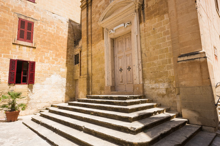st  joseph: St. Joseph chapel of St. Lawrences church in Vallettas Birgu in Malta Stock Photo