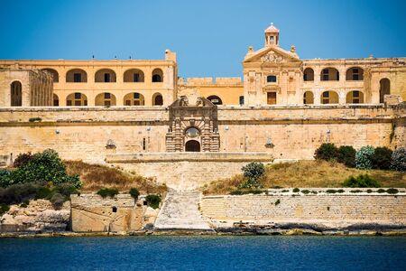 horison: amazing coastal architecture of Valletta in Malta from the sea