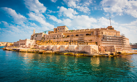 angelo: view on Fort Saint Angelo of Birgu in Malta from the sea Stock Photo