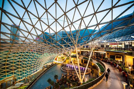 centers: Warsaw, Poland - November 01, 2014: Shopping center Golden Terraces one of the most popular and visited shopping centers in Warsaw.
