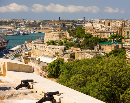horison: beautiful view on Valletta  in Malta