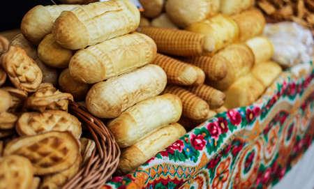 artisan bakery: bakery salling on a street bakery fair