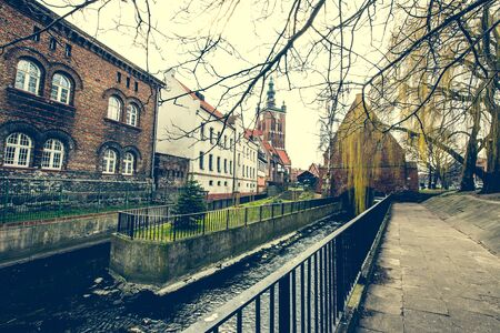 chocolatería: Historical Millers House on the Mill Island in Gdansk and other old houses in cener of Gdansk, Poland
