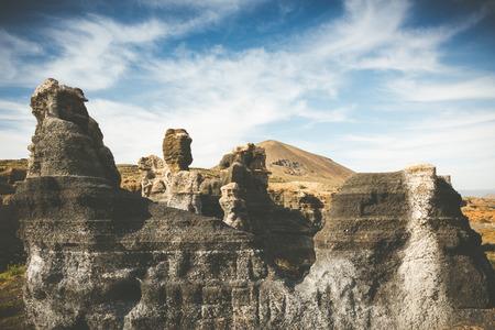 lanzarote: volcanic canyon on Lanzarote, Canary Islands, Spain