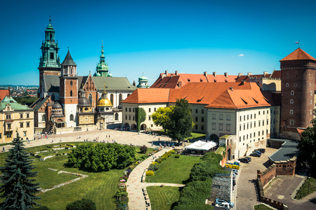 beautiful view on Wawel Castle in Krakow