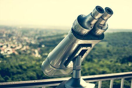 observation: observation  binocular for sightseeing