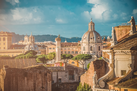 Picturesque View of the Roman Forum in Rome in Italy Фото со стока - 52198961
