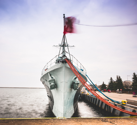 warship: Warship  destroyer serving in the Polish Navy during World War II,  preserved as a museum ship in Gdynia