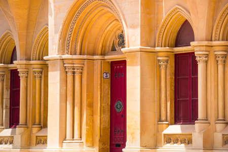 colonnade: beautiful arabic arch colonnade in Maltese Mdina