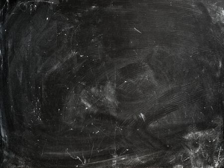 text space: Chalk rubbed out on old empty blackboard for text space Stock Photo