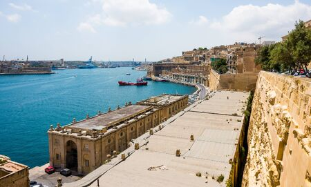 horison: beautiful panoramic view on Valletta  in Malta Stock Photo