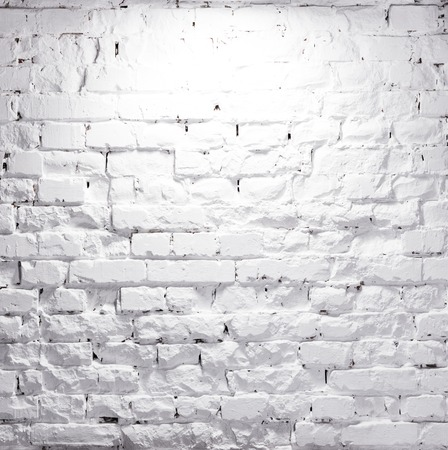 texture of illuminated brick whitewashed wall