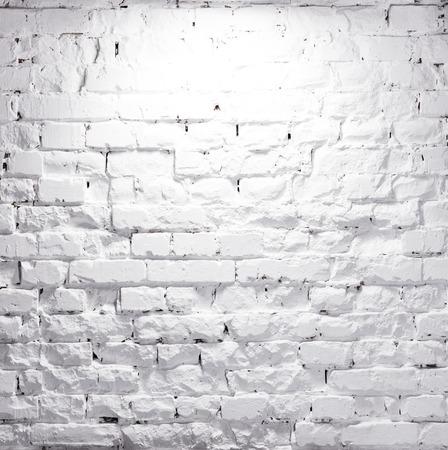 texture of illuminated brick whitewashed wall