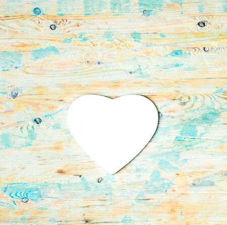 mousepad: white heart shaped on colorful wooden background