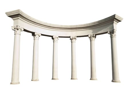 greek columns: Ancient Greek columns isolated on a white background Stock Photo