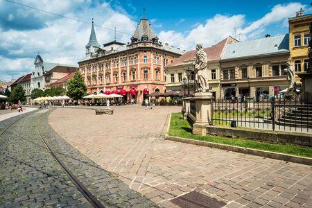 jule: Kosice, Slovakia- 10 Jule 2015:  beautiful view on central street of Kosice in Slovakia