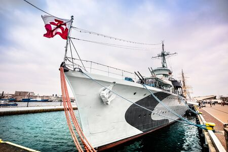 navy pier: Warship  destroyer serving in the Polish Navy during World War II,  preserved as a museum ship in Gdynia
