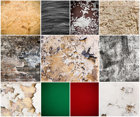 textural: collage of different textural backgrounds