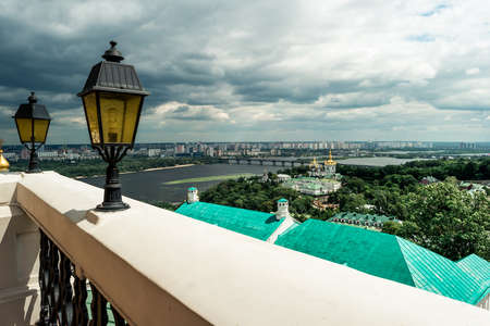 picturesque view of Kyiv from Kyiv Pechersk Lavra terrace, Kyiv, Ukraine