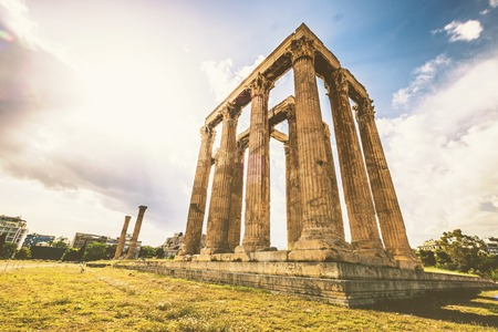 Ruins of the Temple of Olympian Zeus at Athens