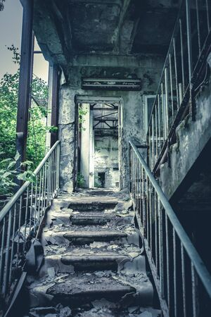 Abandoned radioactive school in Pripyat in the Chernobyl Exclusion Zone