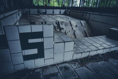 Abandoned radioactive pool in school of Pripyat, Chernobyl Exclusion Zone