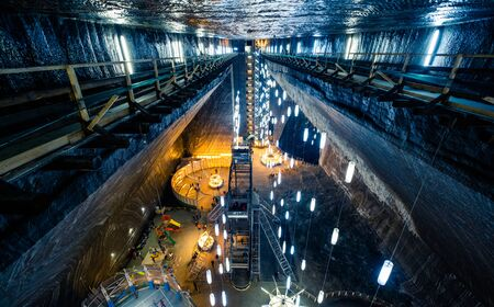 Exciting illumination of Salina Turda mine