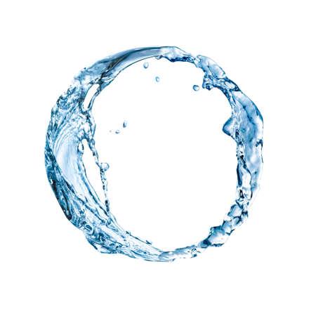 Blue circle made of fresh water
