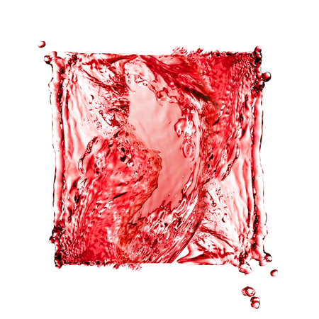 Flowing liquid forming red square