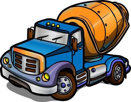 Ilustracja Cartoon betoniarki Izolowane kolorowe