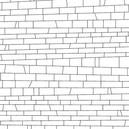 rectangle: brickwork. Vector illustration. black and white texture